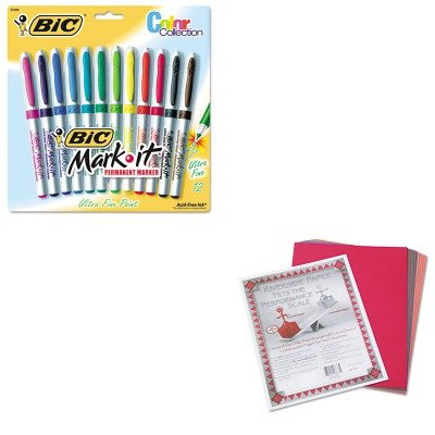 Price comparison product image KITBICGPMUP12ASSTPAC103637 - Value Kit - BIC Mark-it Permanent Markers (BICGPMUP12ASST) and Pacon Riverside Construction Paper (PAC103637)