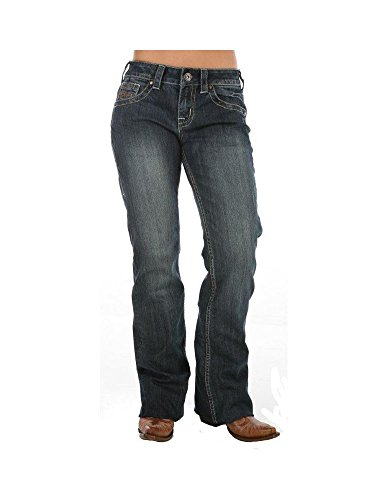 Cowgirl Tuff Co. Womens Dont Fence Me In Dark Stonewash J...