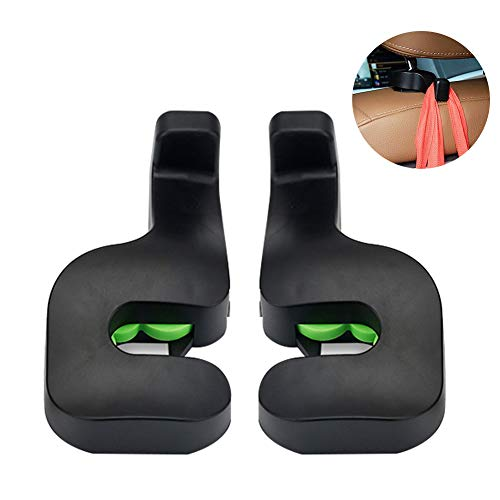 - Car Vehicle Back Seat Hidden Hook,2 PCS Universal Car Vehicle Back Seat Headrest Hanger Holder Hook for Shopping Bag Purse Cloth Coat Grocery Handbags Grocery Bag (Black)
