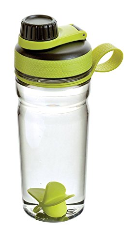 Rubbermaid Shaker Cups For Protein Shakes - Protein Shaker Bottle for Mixing Protein Shakes, Whey Protein Powder, Juices & Smoothies - BPA-Free, Odor Resistant,Finger Loop & Blender Paddle Ball - 20oz