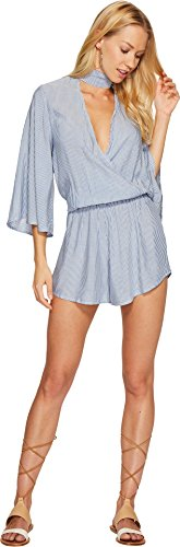 9f83e02bb31e Blue Life Women s Canyon Crush Romper Denim Stripe Jumpsuit