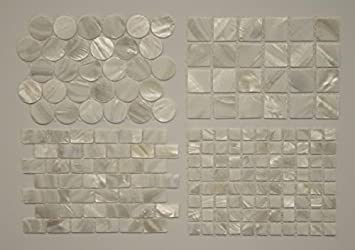 Amazoncom Mother Of Pearl Mosaic Tile Sample Pack Home Improvement