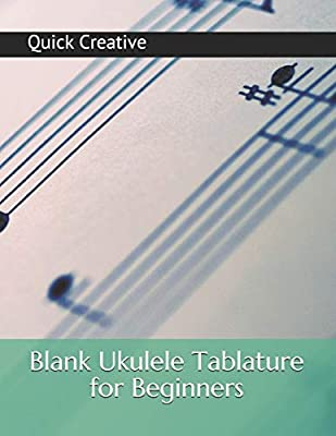 Blank Ukulele Tablature for Beginners: Blank Sheet Music
