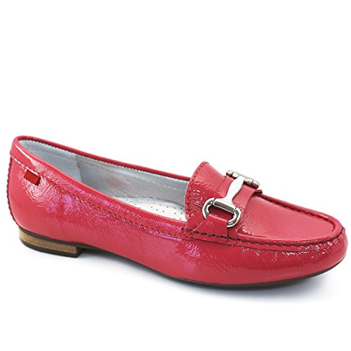 Marc Joseph New York Women's Genuine Leather Made In Brazil Grand Street Candy Patent Buckle Loafer - York Store In New