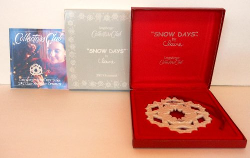 (Longaberger Collectors Club 2002 Claire's Snow Days Ornament - NO Membership Number Required!)