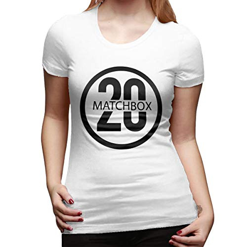 YOUNEVERFORGETME Woman Matchbox Twenty Logo American Rock Band Rob Thomas Casual Tee S White
