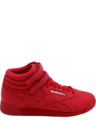 Reebok Free Style Hi Sneakers, Excellent Red/Silver/Gold, 4 Big Kid (Sneaker Hi Freestyle)