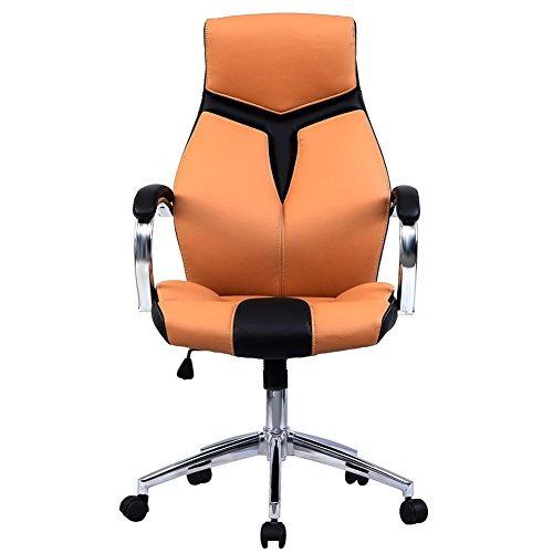 Executive Swivel Office Chair Ergonomic PU Leather igh Back Computer Desk Chair
