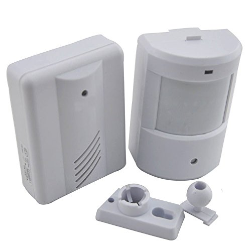 Raoes Alarm Chime Doorbell Wireless PIR Infrared Monitor Sensor Detector Entry Door Bell