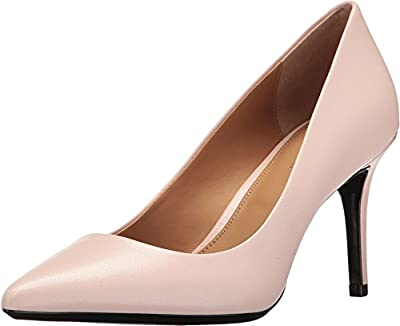 Calvin Klein Womens Gayle Pointed Toe Classic Pumps, Blush, Size 11.0
