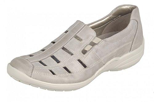 Remonte Mujeres Zapatos llanos DA-HALBSCH beige, (STEEL) R7601-42 STEEL