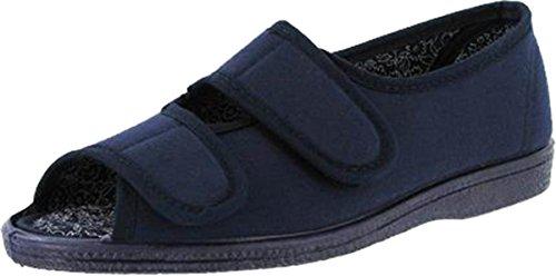 Navy Freizeitschuhe Comfort Sandal Molly Sommer Toe Schuhe Open Canvas Damen Mirak wAvRFnxA