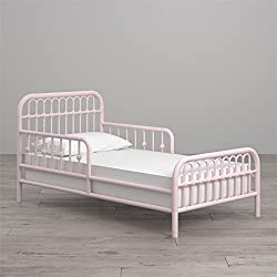 Little Seeds Monarch Hill Ivy Metal Toddler Bed, Pink