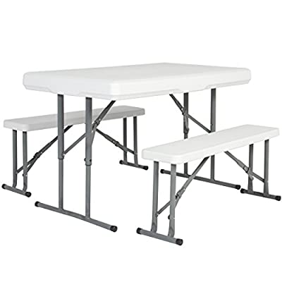 Best Choice Products Outdoor Picnic Party Dining Kitchen Portable Folding Table & Benches