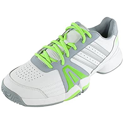 Adidas Men`s Bercuda 3 Tennis Shoes Core White and Solar Green - (M19756-F14)