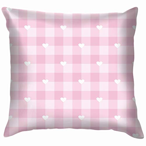 Checkered Grid Texture Baby Pillow Case Throw Pillow Cover Square Cushion Cover 18X18 Inch -