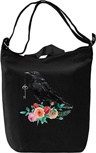 Raven Borsa Giornaliera Canvas Canvas Day Bag| 100% Premium Cotton Canvas| DTG Printing|