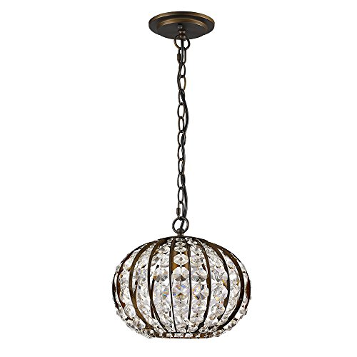 Acclaim Lighting IN11098ORB Olivia Indoor 1-Light Pendant with Crystal, Oil Rubbed Bronze