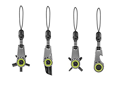 4 Pc. Zipper Pull Tools (PK-15067B), 4 Amazing Keychains , Compact and Functional, Great Gift for Everyday Life's Emergency, Compare to Swiss+Tech, Gerber, Leatherman and Swiss Army