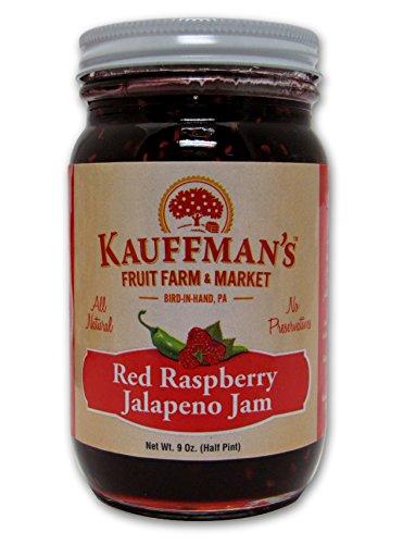 Kauffman's All-Natural Red Raspberry Jalapeno Jam, 9 Oz. Jar (Pack of 2)