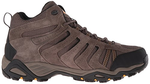 Columbia North Plains Ii Wp Mid, Zapatos de High Rise Senderismo, Hombre Marrón (Mud, Squash 255Mud, Squash 255)