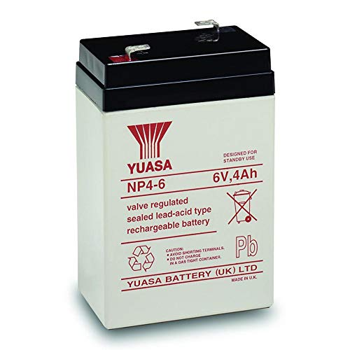 Yuasa Lead Acid Batteries - Yuasa 6V 4AH AGM Lead Acid Battery