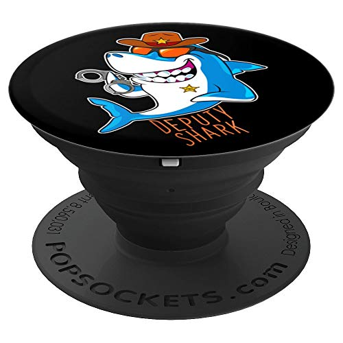 Deputy Shark Keeping the Peace Sea Animal Handcuff Ocean - PopSockets Grip and Stand for Phones and Tablets