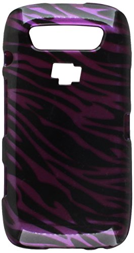 Hard Snap-on Shield With PURPLE ZEBRA Design Faceplate Cover Sleeve Case for BLACKBERRY 9570 MONACO / STORM 3/ TORCH 9860 9850 - Purple Blackberry Faceplates