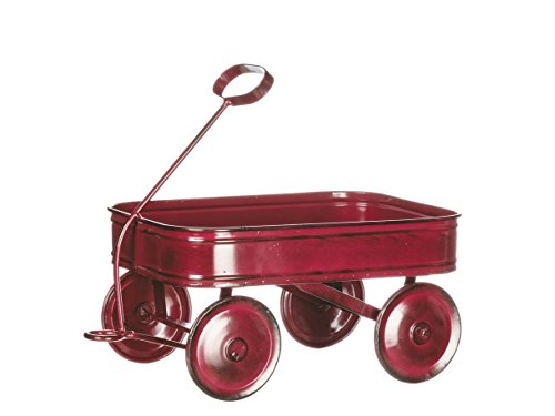 Sullivans Mini Vintage Style Red Metal Wagon 10.25