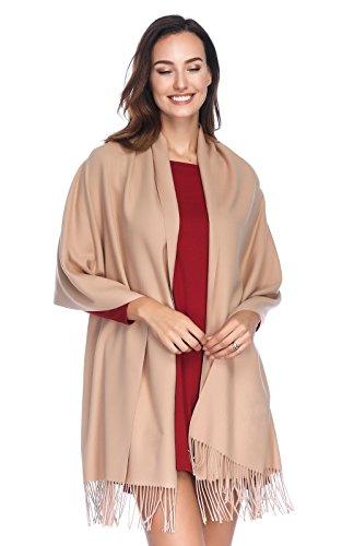 Dress Cashmere Womens (HOYAYO Cashmere Pashmina Shawls and Wraps Scarf(Camel))