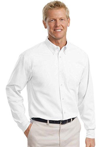 Port Authority Men's Tall Long Sleeve Easy Care Shirt XLT White/ Light Stone