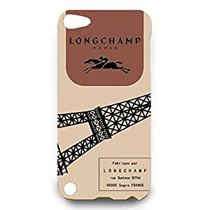 Custom Design Fashion Longchamp Paris Logo Phone Case Cover for Ipod Touch 5th 3D Hard cover Case_Classic Series