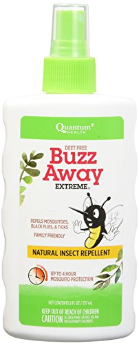 Quantum Research Buzz Away Extreme Spray, 8fz 2 pk (Quantum Natural Insect Repellents)