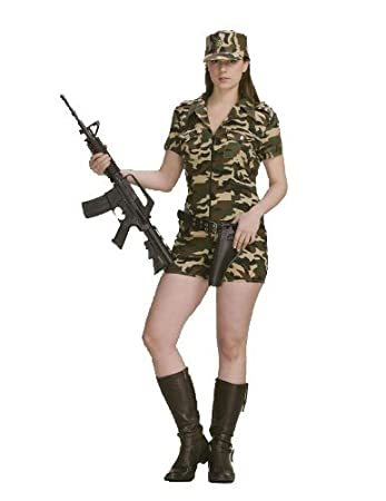 Adult Ladies Sexy Army Military Camo Soldier Costume Uniform Fancy Dress War Set Camouflage Sizes Small  sc 1 st  Amazon UK & Adult Ladies Sexy Army Military Camo Soldier Costume Uniform Fancy ...