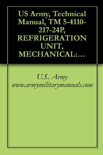US Army, Technical Manual, TM 5-4110-217-24P, REFRIGERATION UNIT, MECHANICAL: TYPE; 10,000 BTU/HR, GASOLINE ENGINE DRIVEN, (R&H METAL PRODUCTS MODEL RMP-J/1-10G), ... (4110-01-003-5213), military manuals ()