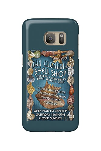 San Clemente, California - Shell Shop Vintage Sign (Galaxy S7 Cell Phone Case, Slim Barely - Shops Clemente San