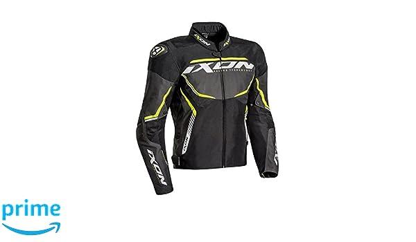 Ixon - Chaqueta de moto para hombre Sprinter Sport talla negro gris amarillo, talla XXXL: Amazon.es: Coche y moto
