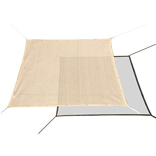 Alion Home HDPE 60% Sun Block Garden Netting Mesh for Plants Protecting - Beige (1, 10' x 6')