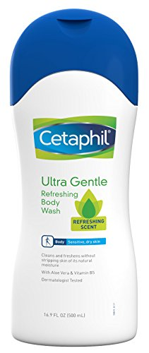 Ultra Gentle Refreshing Body Wash, Refreshing Scent, Sensitive Skin, All Skin Types, Hypoallergenic, Dermatologist Tested, 16.9 Ounce Pack of 3