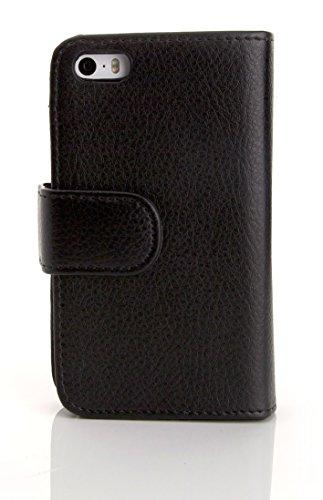 Arktis iPhone SE Hülle Tasche Schutzhülle Cover Case mit Geldbörse - Schwarz