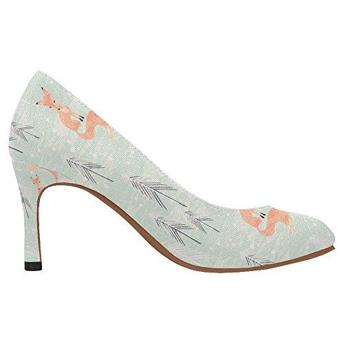 Scarpe Da Donna Di Alta Moda Stile Classico Classico Scarpe Con Tacco Alto Multi 10