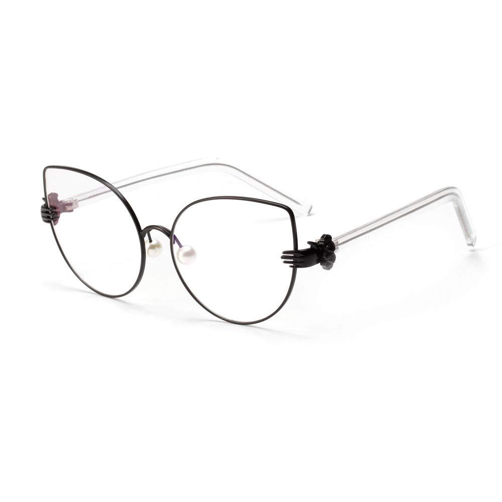 Oro YMTP Occhiali da Vista con Montatura per Occhiali da Vista Donna Occhiali da Sole Vintage per Occhiali da Lettura perlati Donna