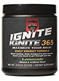 Ignite 365 – Daily Energy Formula – Lemonade (7.5 oz) – Boost Energy Focus & Stamina – Workout Supplement for Gym Fitness Or Sports – Power Performance & Recovery Booster – Pre Or Post Work Out For Sale