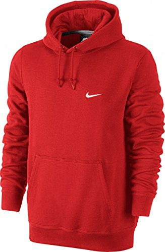 Nike Men's Classic Club Swoosh Pullover Hoodie-University Red-2XL