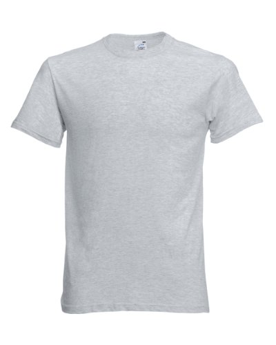 Fruit of the Loom Mens Screen Stars Original Full Cut Short Sleeve T-Shirt (M) (Heather Grey)
