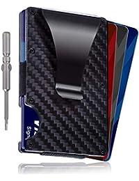 Loex Carbon Fiber Minimalist RFID Wallet-Slim Money Clip Card Holder For Men and Woman