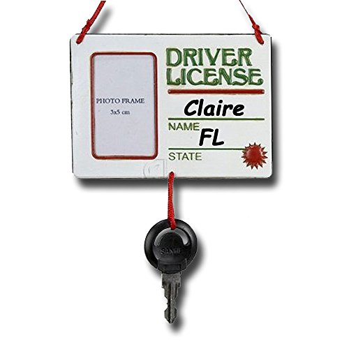 Personalized Driver License Picture Frame with Key Christmas ()