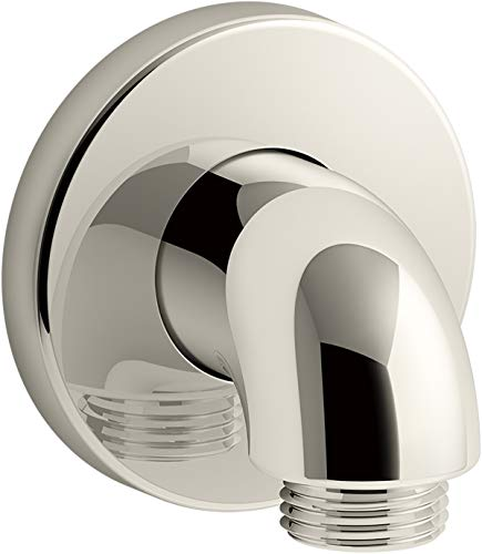 - Kohler 22172-SN Purist Wall-mount supply elbow, Vibrant Polished Nickel