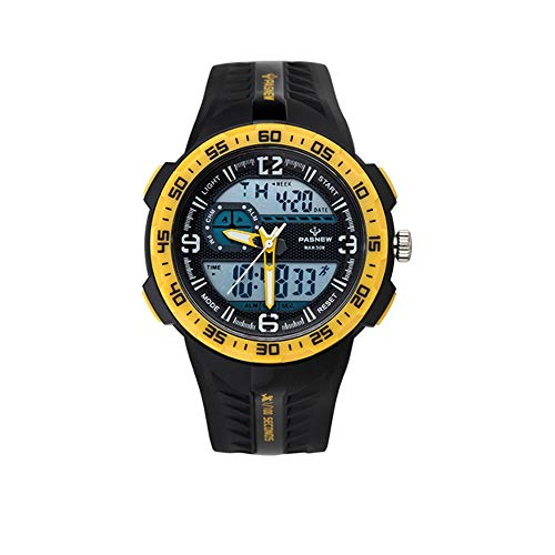 IWOCH Boys Watches, LED Digital Outdoor Sports Casual Waterproof Wristwatch Christmas Birthday Gifts for Boys Girls Ages 7-10 11-15 Yellow