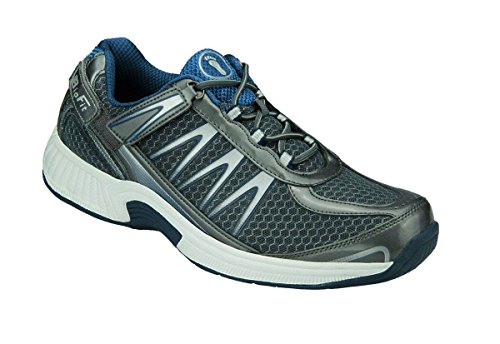 Orthofeet Plantar Fasciitis Heel Pain Relief Comfort Orthopedic Diabetic Athletic Walking Shoes Mens Sneakers Sprint Grey (The Best Walking Shoes For Plantar Fasciitis)